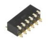 Přepínač DIP-SWITCH Počet sekcí:6 ON-OFF 0,025A/24VDC