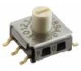 Kódový přepínač HEX/BCD Polohy:16 SMT Rkont max:100mΩ
