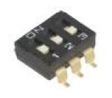 Přepínač DIP-SWITCH Počet sekcí:3 ON-OFF 0,025A/24VDC 100MΩ