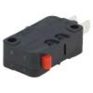 Mikrospínač bez páčky SPDT 16A/250VAC 10A/30VDC ON-(ON) IP40