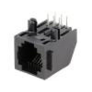 Zásuvka RJ12 PIN:6 Kat:3 Uspořádání výv:6p6c THT 12,7mm