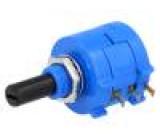 Potenciometr axiální víceotáčkový 10kΩ 2W ±5% 6,35mm drátový