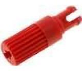 Knoflík nastavovací hřídelka červená h:11,7mm Určení CA14