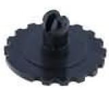 Knoflík nastavovací kolečko černá Ø16mm Určení PT15N