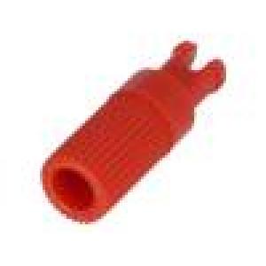 Knoflík nastavovací hřídelka červená Ø6x12mm Určení PT15N