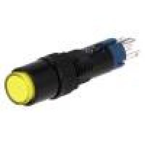 Přepínač tlačítkový 2 polohy SPDT 0,5A/250VAC 1A/24VDC žlutá