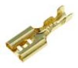 Konektor plochý 4,7mm 0,5÷1mm2 zlacený zásuvka