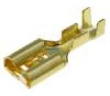 Konektor plochý 6,3mm 1-2,5mm2 na zacvaknutí zásuvka