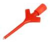 Měřicí hrot s háčkem klešťový 2A 60VDC červená 0,64mm 30mΩ
