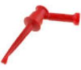 Měřicí hrot s háčkem s háčkem 5A 60VDC červená 4mm