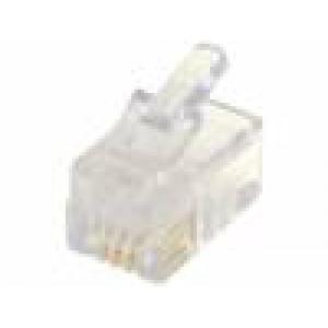 Zástrčka RJ9 4 PIN Uspořádání výv:4p4c IDC, krimpovací