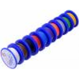 Kabel TLY licna Cu 0,22mm2 PVC 150V 10 cívek x 10m