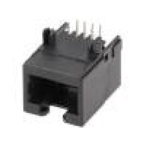 Zásuvka RJ45 8 PIN Kat:6 Uspořádání výv:8p8c THT úhlový