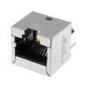 Zásuvka RJ45 8 PIN Kat:6a stíněný Uspořádání výv:8p8c THT