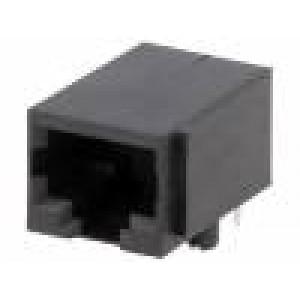 Zásuvka RJ50 PIN:10 Uspořádání výv:10p10c THT na plošný spoj