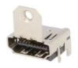 Konektor HDMI zásuvka s držákem PIN:19 Povrch zlacený úhlový