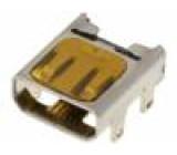 Konektor micro HDMI zásuvka PIN:19 Povrch zlacený úhlový SMT