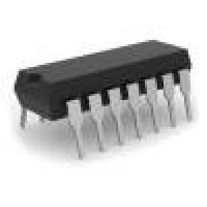 CD4543BE IC číslicový BCD to 7 segment, decoder, display driver CMOS