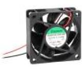Ventilátor DC axiální 12VDC 60x60x25mm kuličkové