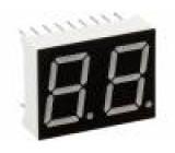 Zobrazovač LED dvoumístný 7-segmentový 14,22mm