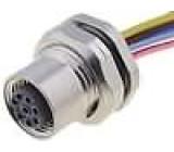 Konektor M12 zásuvka zásuvka 8 PIN vodiče 0,5m Závit PG9