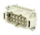 Konektor heavy|mate Pouz velikost E10 Řada C146 vidlice 500V