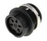 Konektor kulatý Řada C091B zásuvka zásuvka stříbřený PIN:5