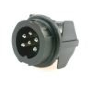 Konektor kulatý Řada C091B vidlice zásuvka stříbřený PIN:6