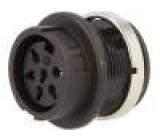 Konektor kulatý Řada C091B zásuvka zásuvka stříbřený PIN:6