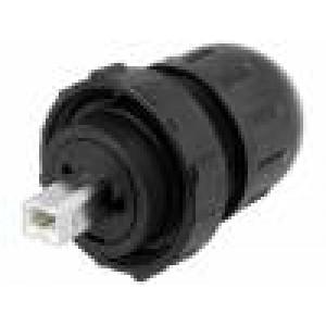 Zástrčka USB B Data-Con-X na kabel přímý V: USB 2.0 IP67,IP68