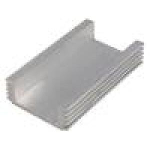 Chladič lisovaný L:70mm W:40mm H:15mm 120cm2 vnitřní šíře: 28mm