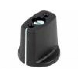 Knoflík s ukazatelem ABS Pr.hříd:6mm Ø23x16mm černá