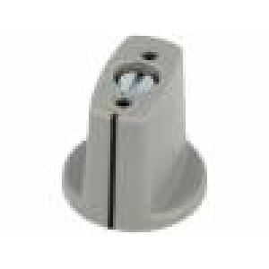 Knoflík s ukazatelem ABS Pr.hříd:6mm Ø23x16mm šedá