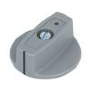 Knoflík s ukazatelem ABS Pr.hříd:6mm Ø40x16mm šedá