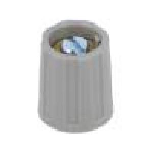 Knoflík ABS Pr.hříd:6mm černá Hřídel: hladký