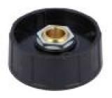 Knoflík ABS Pr.hříd:8mm černá Hřídel: hladký