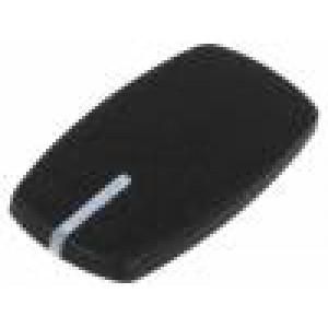 Víčko ABS černá zatlačované Ukazatel: bílá Určení: A2431