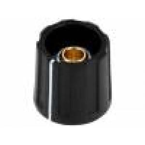 Knoflík s ukazatelem ABS Pr.hříd:6mm Ø16x15,5mm černá
