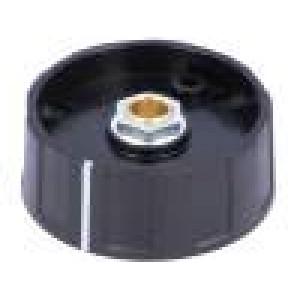 Knoflík s ukazatelem ABS Pr.hříd:6mm Ø40x15,5mm černá
