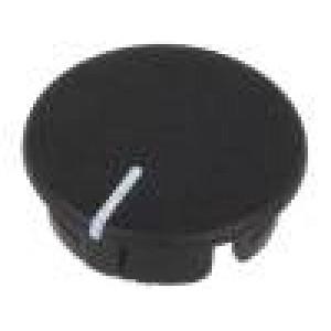 Víčko ABS černá zatlačované Ukazatel: bílá Určení: A2513,A2613