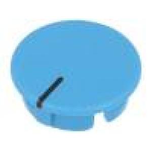 Víčko ABS modrá zatlačované Ukazatel: černá Tvar: kulatý