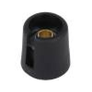 Knoflík s ukazatelem polyamid Pr.hříd:6mm Ø16x16mm černá