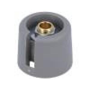 Knoflík s ukazatelem polyamid Pr.hříd:6mm Ø20x16mm šedá