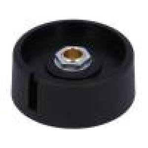 Knoflík s ukazatelem polyamid Pr.hříd:6mm Ø40x16mm černá
