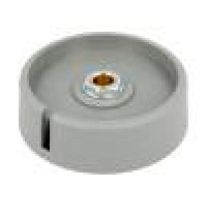 Knoflík s ukazatelem polyamid Pr.hříd:6mm Ø50x16mm šedá