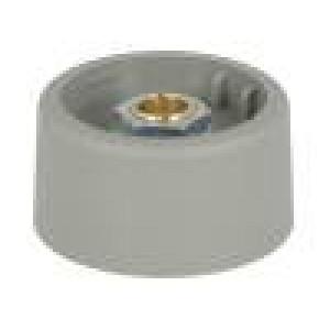Knoflík bez ukazatele polyamid Pr.hříd:6mm Ø31x16mm šedá