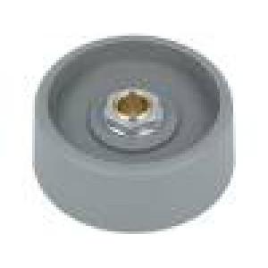 Knoflík bez ukazatele polyamid Pr.hříd:6mm Ø40x16mm šedá