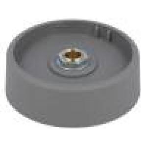 Knoflík bez ukazatele polyamid Pr.hříd:6mm Ø50x16mm šedá