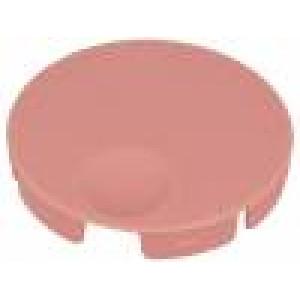 Víčko polyamid růžová zatlačované Určení: A3040,A3140