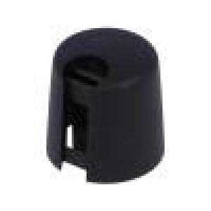 Knoflík s ukazatelem plast Pr.hříd:6mm Ø16x16mm černá